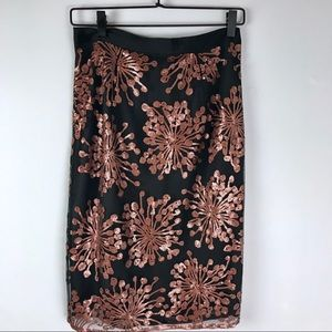 Boden Pencil skirt copper sequin womens size 4